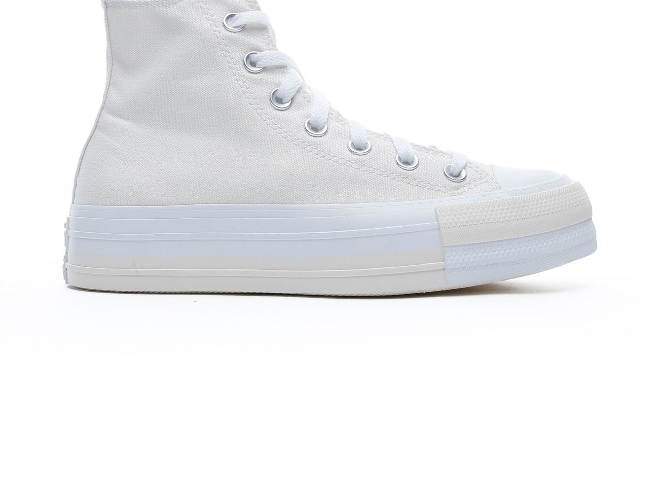 Chuck Taylor All Star Double Stack Lift Hi Kadın Beyaz Sneaker