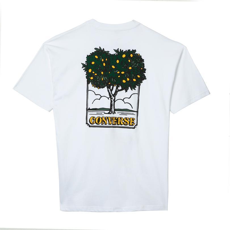 Converse Lemonade Erkek Beyaz T-Shirt