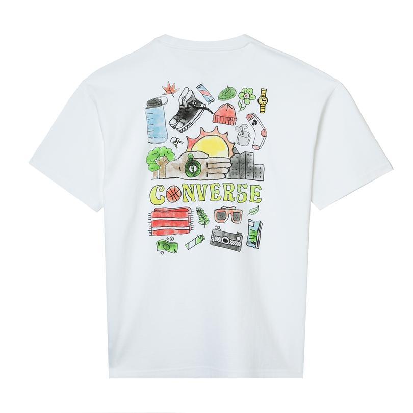 Converse Daylight Kit Erkek Beyaz T-Shirt