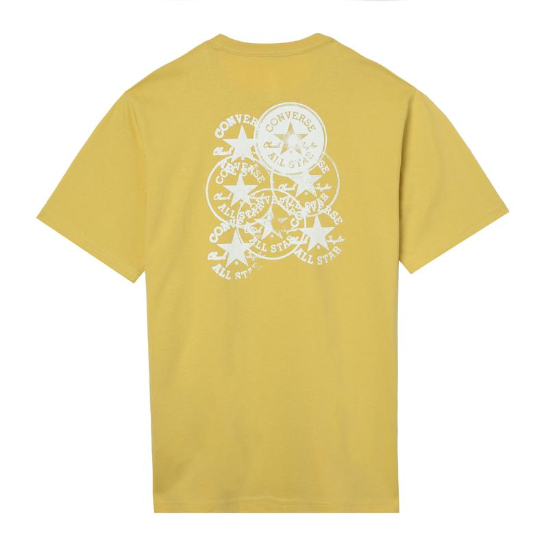 Converse Stamped Chuck Patch Erkek Sarı T-Shirt