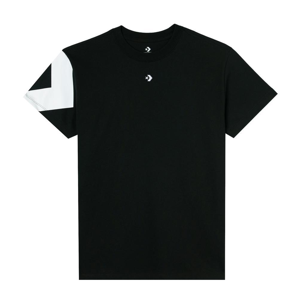 Converse Star Chevron Triple Hit Relaxed Kadın Siyah T-Shirt