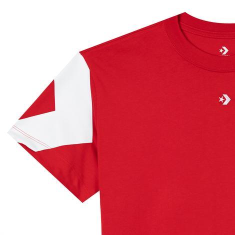 Converse Star Chevron Triple Hit Relaxed Kadın Kırmızı T-Shirt