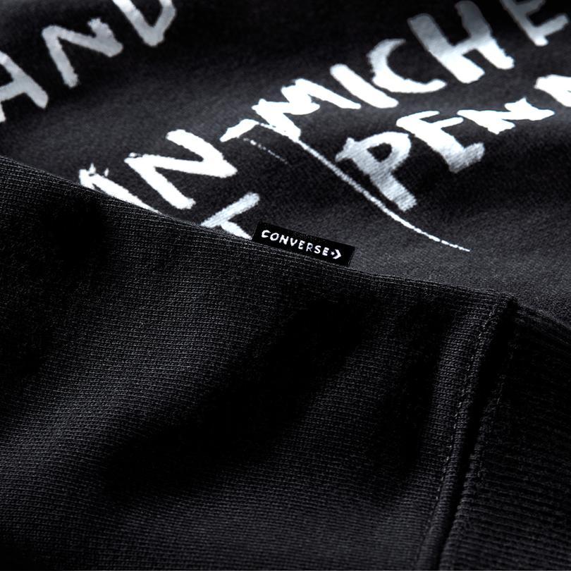 Converse Basquiat Fleece Erkek Siyah Sweatshirt