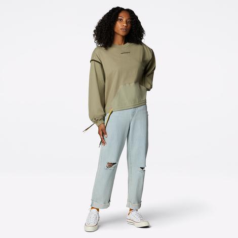 Converse Kadın Yeşil Sweatshirt