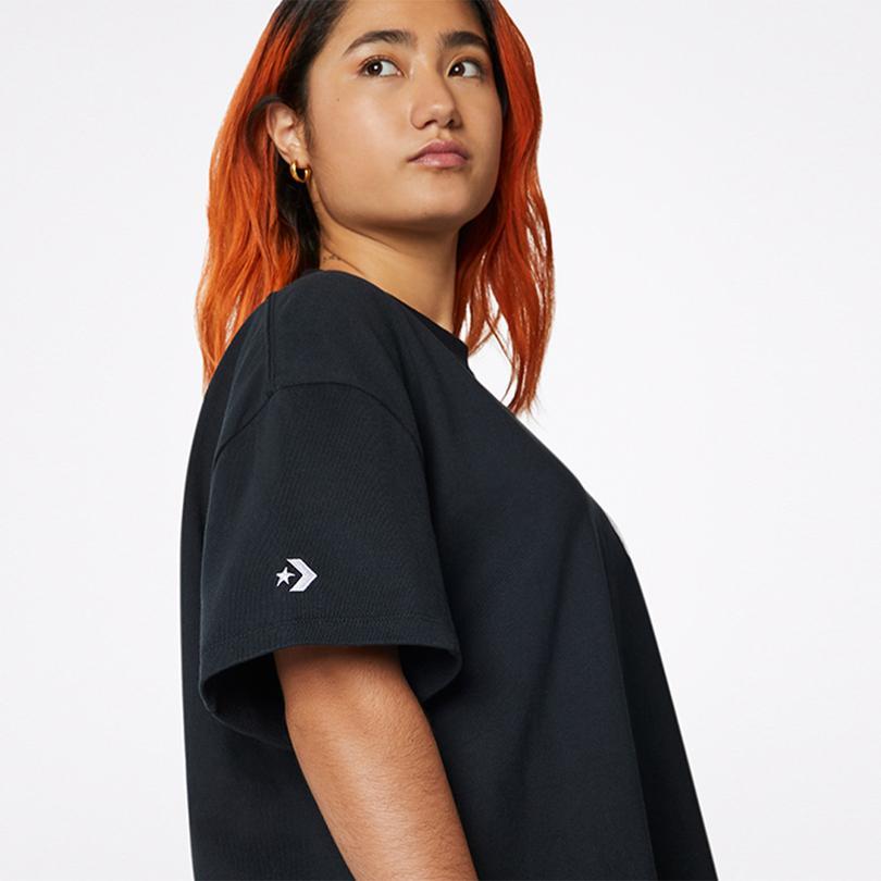 Converse Shapes Rectangle Unisex Siyah T-Shirt